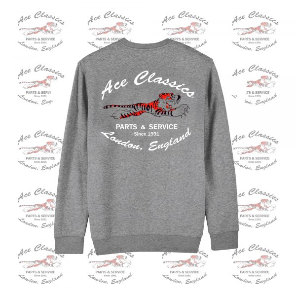 Ace Classics – 'Leaping Tiger' Grey (Graphite Heather) Sweatshirt