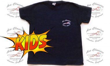 Ace Classics - Kids Black Leaping Tiger T-shirt
