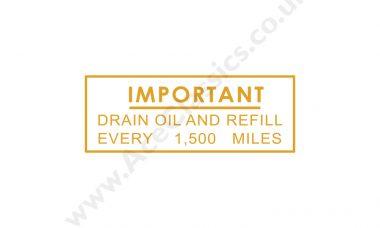 Triumph - Important Drain Oil Transfer