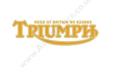 Triumph - Rear Number Plate Transfer
