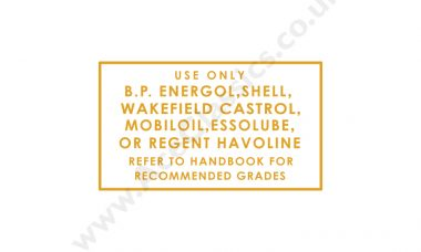 Triumph - Use Only BP Energol Transfer