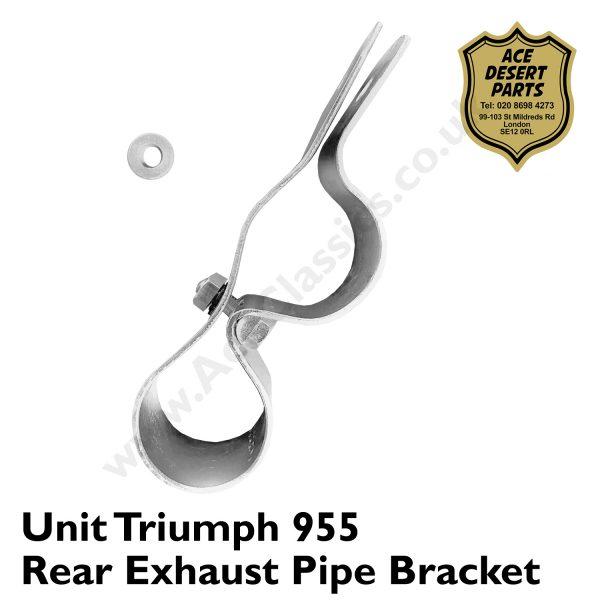 Unit Triumph 955 Rear Exhaust Pipe Bracket & Spacer