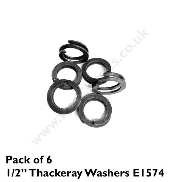 "Pack of 6 x 1/2"" Thackeray Washers E1574"