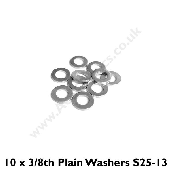 Pack of 10 x 1/4 plain Washers S25-13