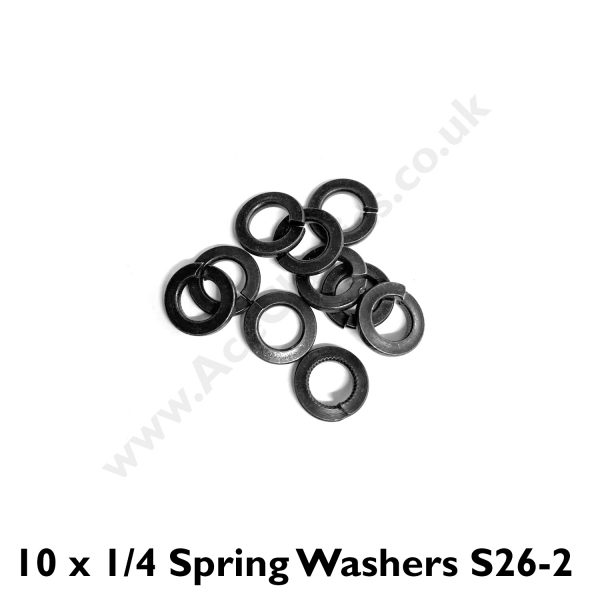 Pack of 10 x 1/4 Spring Washers S26-2