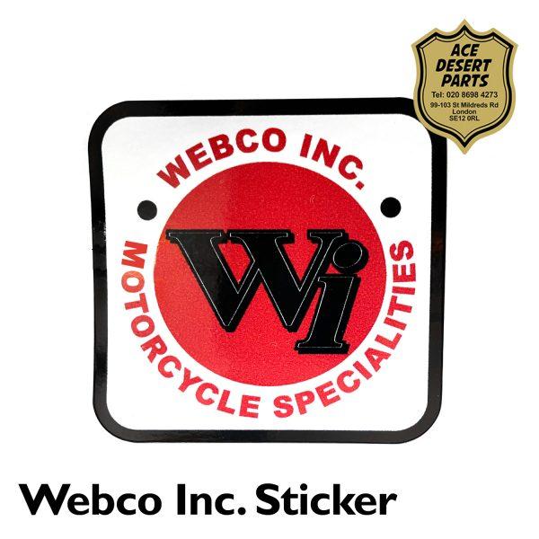 Webco Inc Motorcycle Specialties Sticker