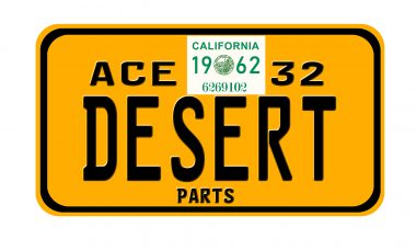 Ace Desert Parts 32 License Plate Sticker