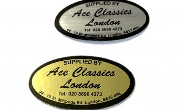 Supplied by Ace Classics London Stickers (Gold & Silver)