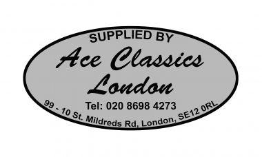 Ace Dealer Sticker Oval (silver)